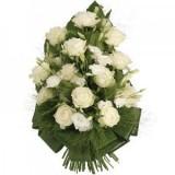 Траурен жлеб с бели цветя