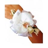 Гривна за шаферка от орхидея и рози BR1
