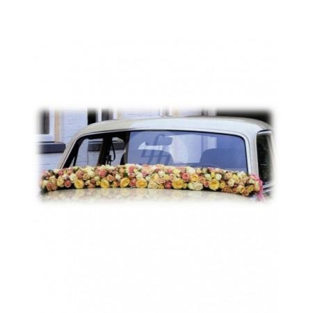 Аранжировка за кола от пъстри рози М7
