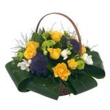 Раздвижена кошница с цветя