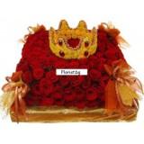 Царска корона и рози