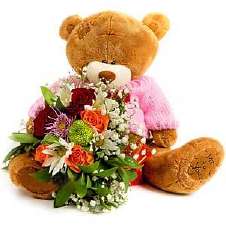 Мечо с Букет цветя