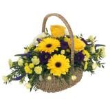 """Пъстра"" кошница цветя"