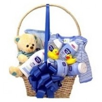 New Baby Boy Gifts Basket