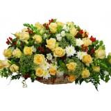 Кошница с цветя Лятно Време от 51 до 101 цветя