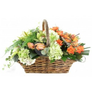 Flower basket C24
